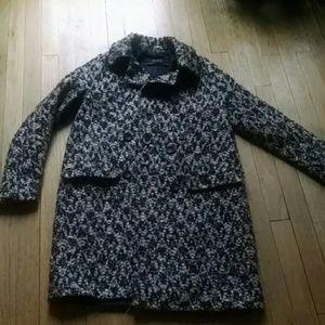 Zara xs boucle menswear dress jacket coat